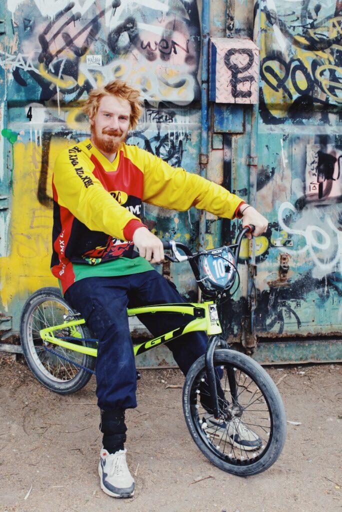 Alan on bmx bike